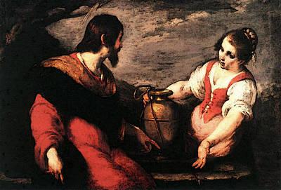 Strozzi Bernardo Christ And The Samaritan Woman Poster by Bernardo Strozzi
