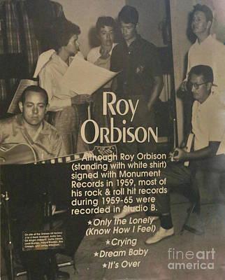 Studio B Roy Orbison  Poster by Chuck Kuhn