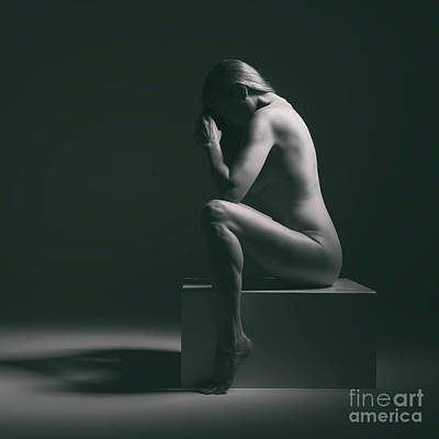Studio Nude Seated Poster