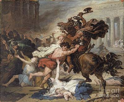 Study For Destruction Of Jerusalem By The Romans Poster by Celestial Images