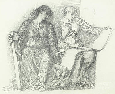 Study For Music Poster by Edward Coley Burne-Jones