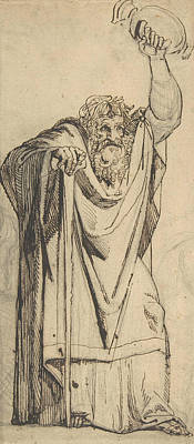 Study For The Prophet Jeremiah Poster