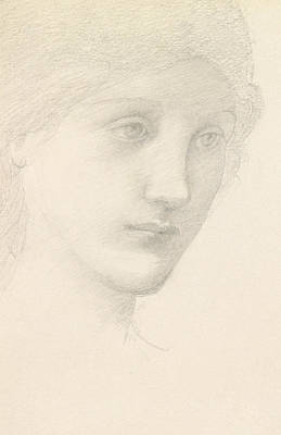 Study For The Venus In The Godhead Fires Poster by Sir Edward Burne-Jones