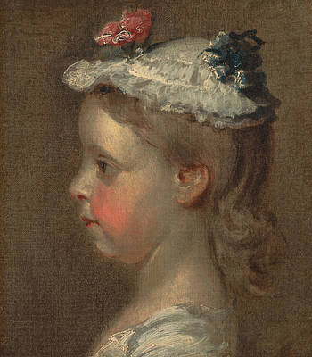 Study Of A Girl's Head Poster by William Hogarth