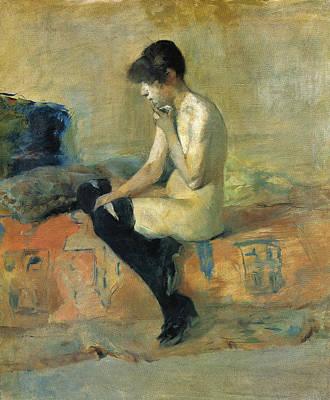 Study Of A Nude Poster by Henri de Toulouse-Lautrec