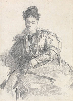 Study Of A Seated Woman Poster by Richard Parkes Bonington