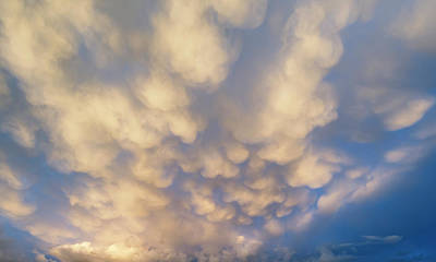 Stunning Dramatic Mammatus Clouds Formation Immediately Prior To Poster