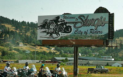 Sturgis City Of Riders Poster by Anna Ruzsan