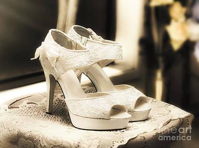 Stylish And Elegant Bridal Shoes Poster