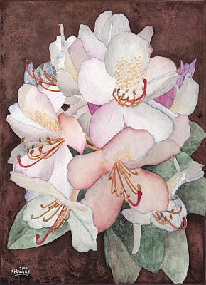 Stylized Rhododendron Poster by Ken Powers