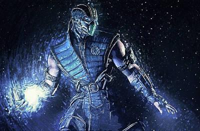 Sub-zero - Mortal Kombat Poster by Taylan Apukovska
