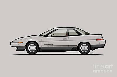 Subaru Alcyone Xt-turbo Vortex Silver Poster
