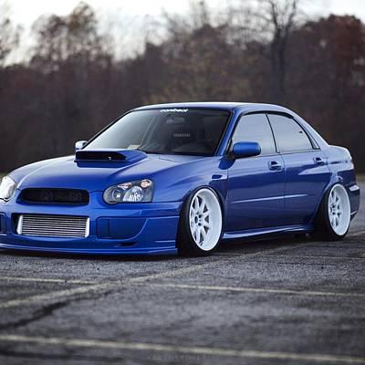 Subaru Impreza Wrx Sti Subaru Tuning Blue 98578 2048x2048 Poster