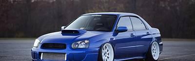 Subaru Impreza Wrx Sti Subaru Tuning Blue 98578 3840x1200 Poster