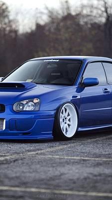 Subaru Impreza Wrx Sti Subaru Tuning Blue 98578 640x1136 Poster
