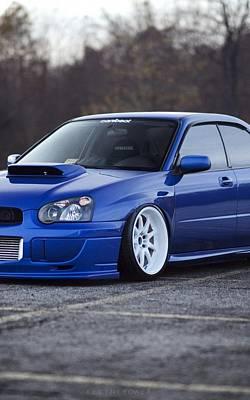 Subaru Impreza Wrx Sti Subaru Tuning Blue 98578 800x1280 Poster