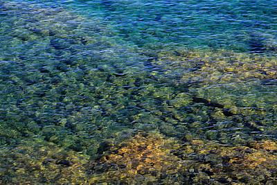 Submerged Rocks At Lake Superior Poster