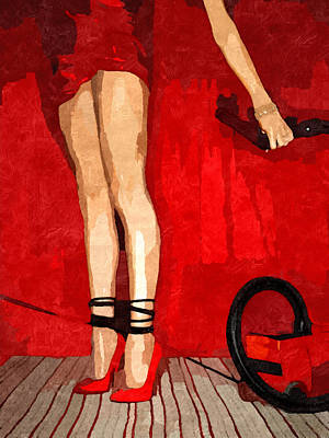 Submission In Red - Tangled Poster by BDSM love