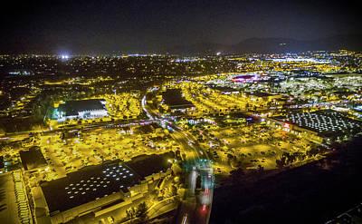 Suburbia At Night Temecula California Poster