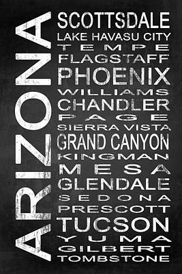 Subway Arizona State 1 Poster by Melissa Smith