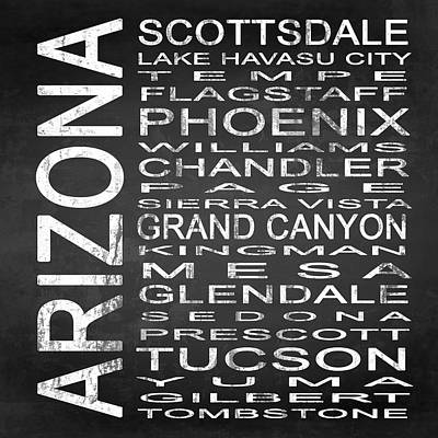 Subway Arizona State Square Poster by Melissa Smith