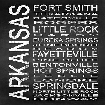 Subway Arkansas State Square Poster by Melissa Smith