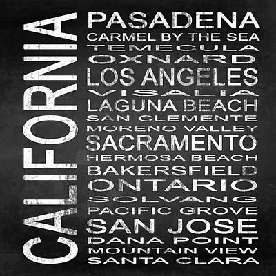 Subway California State 2 Square Poster by Melissa Smith