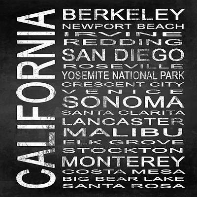 Subway California State 3 Square Poster by Melissa Smith