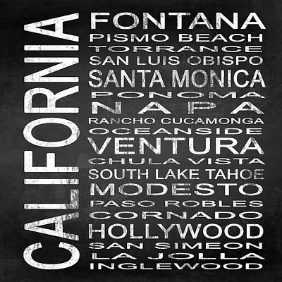 Subway California State 5 Square Poster by Melissa Smith