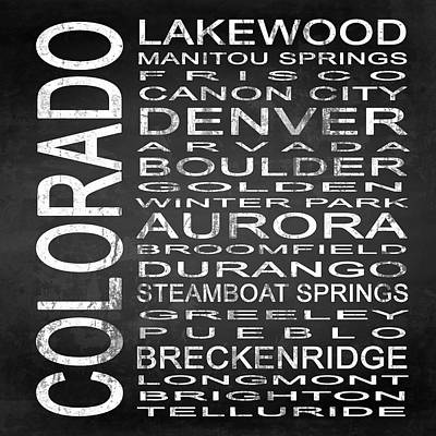 Subway Colorado State Square Poster by Melissa Smith