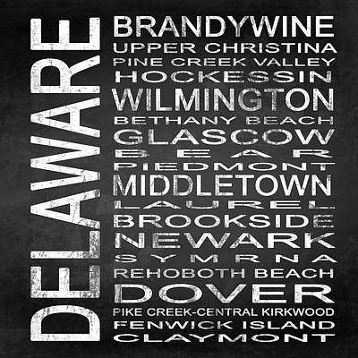 Subway Delaware State Square Poster by Melissa Smith