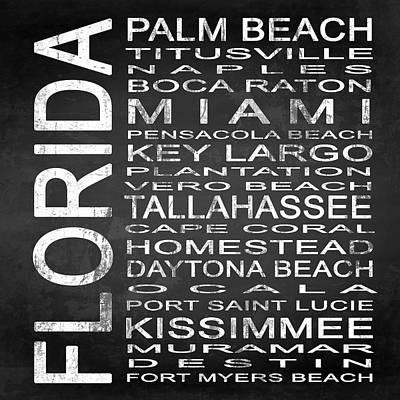 Subway Florida State 2 Square Poster
