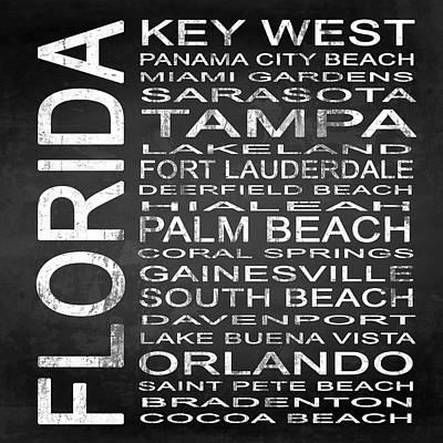 Subway Florida State 3 Square Poster by Melissa Smith