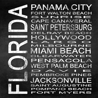 Subway Florida State Square Poster by Melissa Smith
