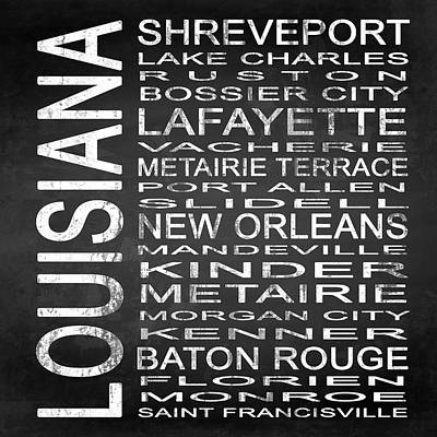 Subway Louisiana State Square Poster by Melissa Smith