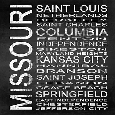 Subway Missouri State Square Poster by Melissa Smith