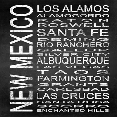Subway New Mexico State Square Poster by Melissa Smith