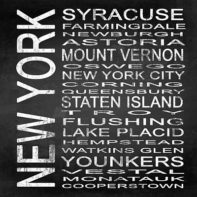 Subway New York State 2 Square Poster