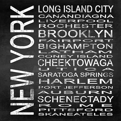 Subway New York State 3 Square Poster by Melissa Smith