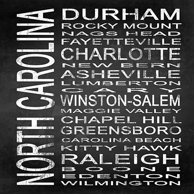 Subway North Carolina State Square Poster by Melissa Smith