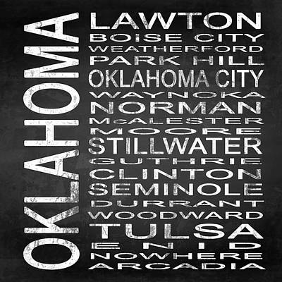Subway Oklahoma State Square Poster