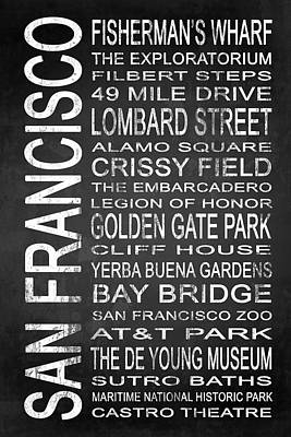Subway San Francisco 2 Poster by Melissa Smith