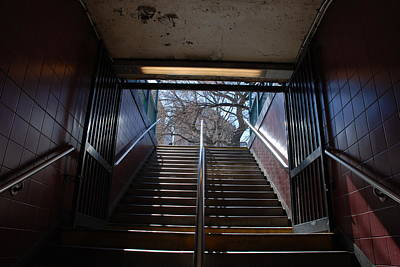Poster featuring the photograph Subway Stairs To Freedom by Rob Hans