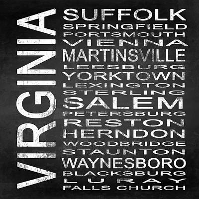 Subway Virginia State 2 Square Poster by Melissa Smith