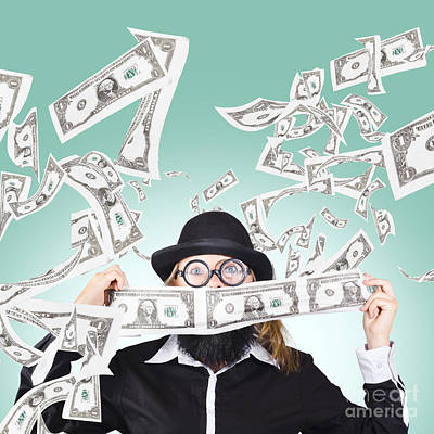 Successful American Businessman With Lots Of Money Poster