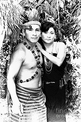 Poster featuring the photograph Sucua Shaman And Spouse by Al Bourassa