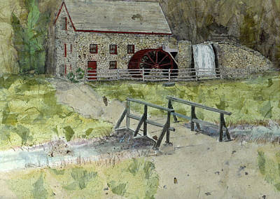 Poster featuring the painting Sudbury Gristmill by Lynn Babineau