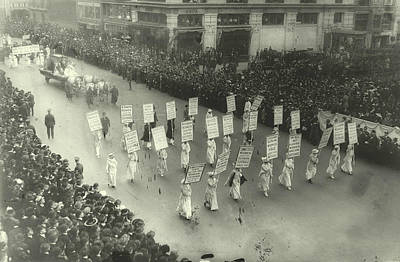Suffragists Marching In New York City Poster by Padre Art