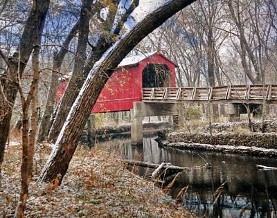 Sugar Creek Covered Bridge4  Poster by Marty Koch