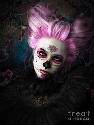 Sugar Doll Pink Poster by Shanina Conway